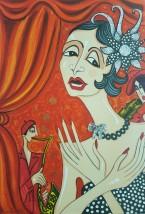 Edith Piaf 42 x 61 Litografi