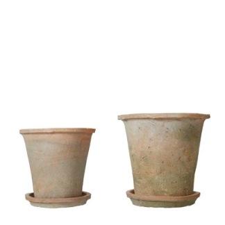 Terracottakrukor - Liten kruka med fat