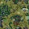 Mönstrade Ekologiska trikåtyger - Trollslända grön