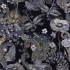 Mönstrade Ekologiska trikåtyger - Trollslända svart