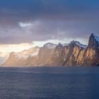 Solnedgång över fjorden