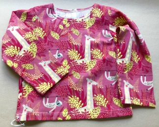 Ekologiska barnkläder - Tröja djungeldjur rosa