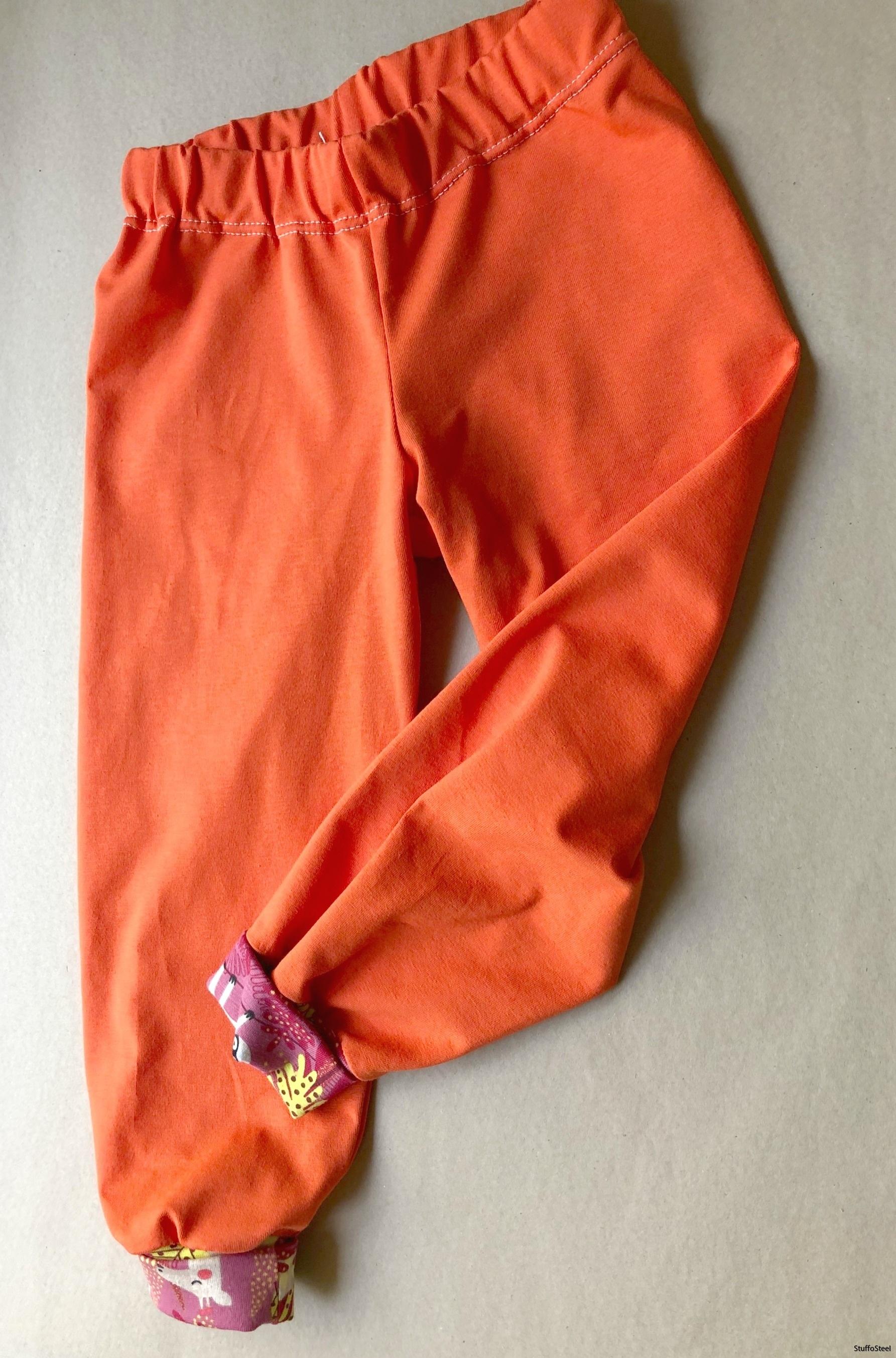Byxa orange/djungeldjur