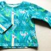 Ekologiska barnkläder - Tröja djungeldjur turkos