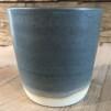 Grå keramikmuggar - Grå mugg 8x8 cm