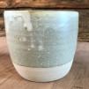 Linas Grågröna Keramik - grågrön mugg 8,5x9,5 cm