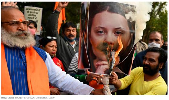 Bönder i Indien är sådär lagom nöjda med 18åriga Greta Thunbergs engagemang