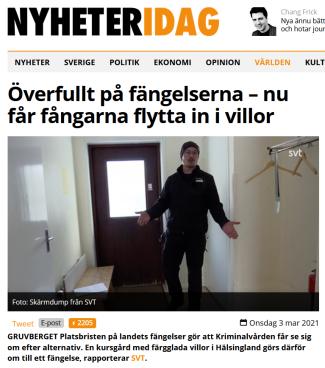 Klicka på bilden för att komma till artikel inne hos Nyheteridag.se