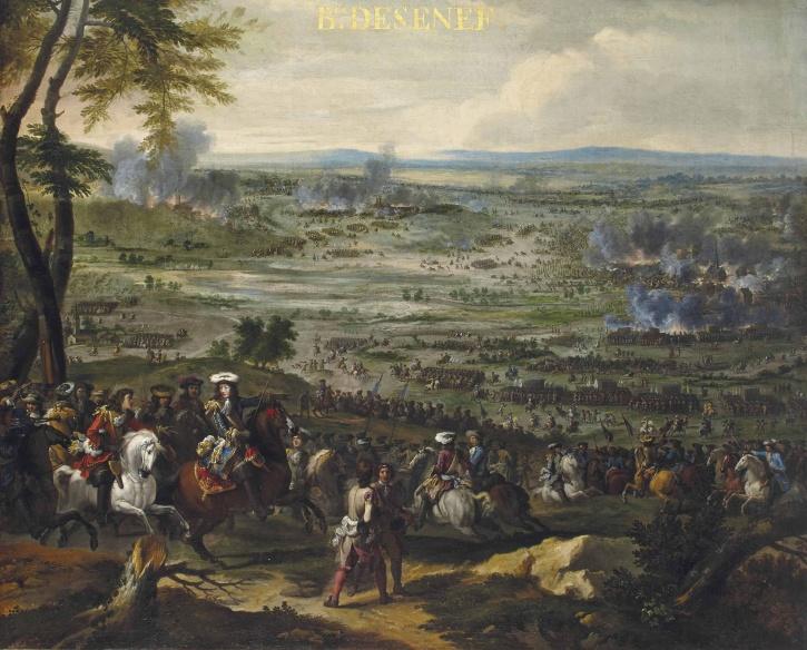Under det fransk-holländska kriget 1672-1678, excellerade Conrad von Rosen under slaget vid Seneffe år 1674.