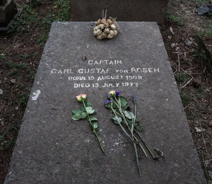 Carl Gustaf ligger begravd på Ferenji Cemetery i stadsdelen Gulele i Addis Abeba.