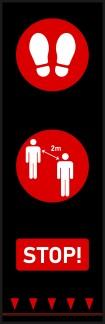 Avståndsmatta - Avståndsmatta, Röd, 0,65x2.0m