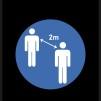 Avståndsmatta - Avståndsmatta, Blå, 0,65x2.0m