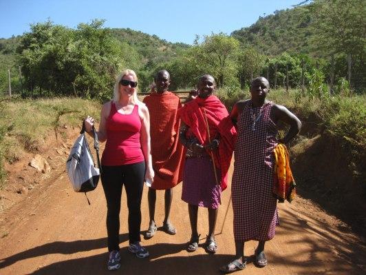 Vandring i Masai Mara Kenya