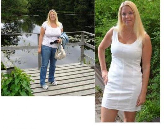 Jag före och efter ca 22 kg