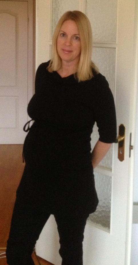 Känns bara som det är svarta kläder nu, och jag vägrar köpa nytt förrän bebisen kommit ut... :)