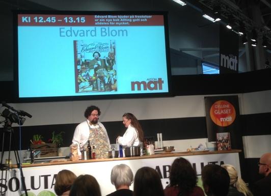 Edvard Blom och frun Gunilla lagade musslor