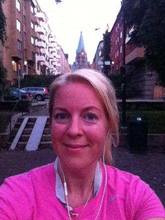 Efter löptur på det vackra Södermalm!