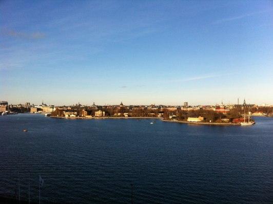 Utsikt från Fjällgatan