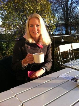 Uteservering på Skeppsholmen i november, HÄRLIGT!
