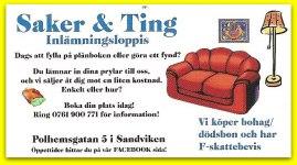 Saker & Ting - Inlämningsloppis