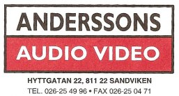 Anderssons Audio Video