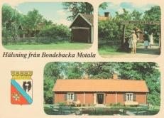 Blekt och missfärgat vykort från 1970-talet