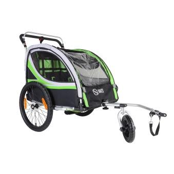 Naits cykelvagn med promenadhjul
