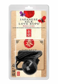 Japanese silk love rope ball gag -