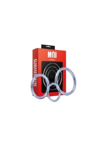Moi Threesome Chromed Cock Ring 3 Set . Ø 40-45-50 mm