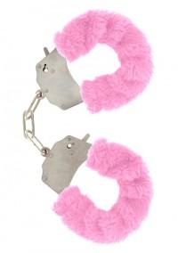 Furry  Cuffs - rosa