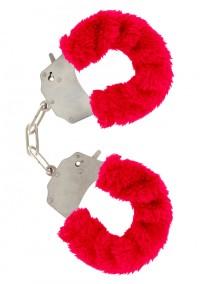 Furry  Cuffs - Röda