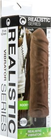Realistic Vibrator Rocky (Brown)