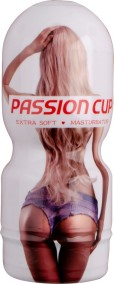 Passion cup masturbator vagina white/red