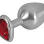 Aluminium Butt Plug with a Decorative Gem