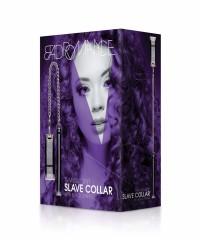 Black Translucent Slave Collar with Black Stripes