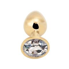 Rosebud Anal Plug large gold