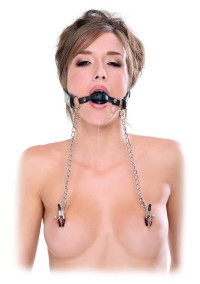 Ball Gag & Nipple Clamps