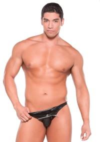 Wetlook Zipper Thong