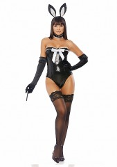 Voila Sexy Rabbit Costume - Black S/M