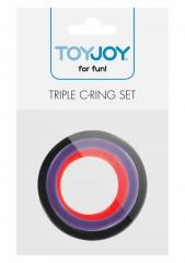 Triple Rings Multicolor 3pcs