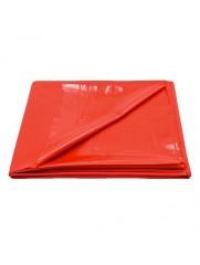 PVC bed sheet red 200x220