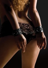 Leather Cuffs - Black (OU048BLK / Shots