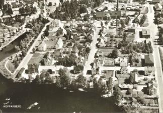 Vykort - Flygfoto över Kopparberg