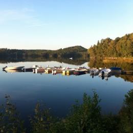Magnus Gunnarsson: Östra Ingsjön med båtbryggan