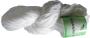 Merceriserat Bomullsgarn 8/4 - Vit härva Jasmine