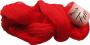 Merceriserat Bomullsgarn 12/3 - Fino Ljusröd härva