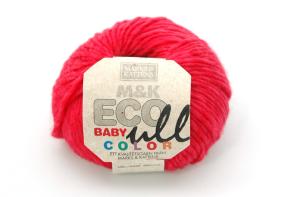 M&K Eco Baby Ull - Hallonröd