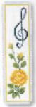 Bokmärke Ros med G-klav