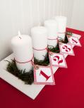 Etiketter Advent 4-pack