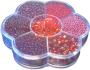 Rocailleset 7-fack sortering - Röda Pärlor